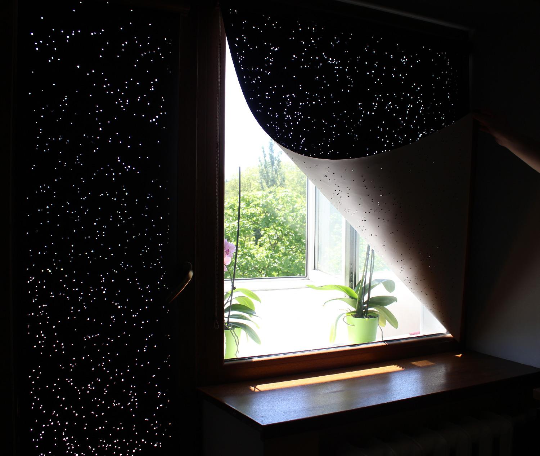 Hole Roll - zaciemniające rolety z panoramą Londynu lub Nowego Jorku.Hole Roll - blackout blinds with London or New York skyline.